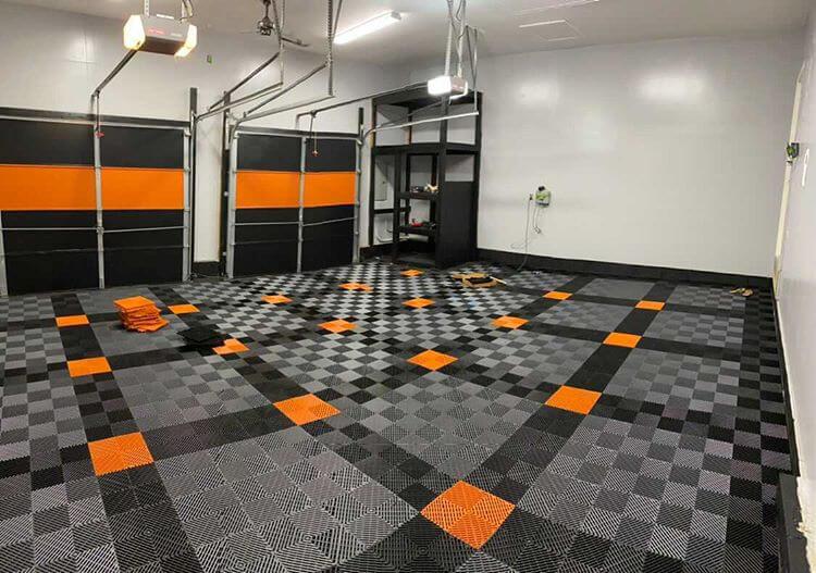 RaceDeck Ribbed Garage Floor Tiles