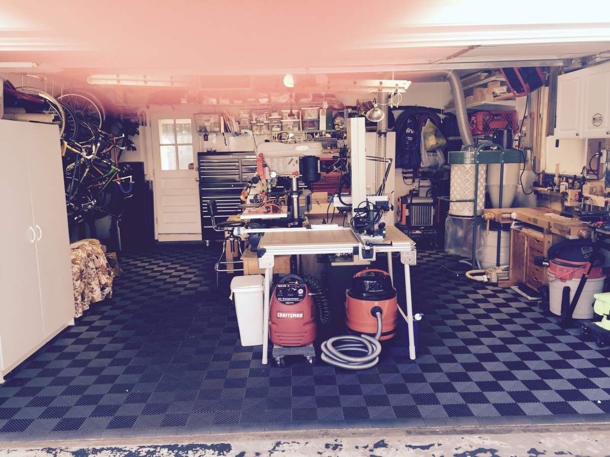 Pictures garage floor tiles wood shop work shop 18 dailygadgetfo Gallery