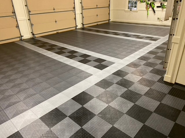 TrueLock HDXT Diamond Garage Floor Tiles