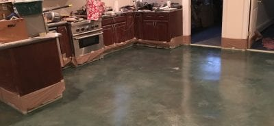 Clear Polyurea Kitchen Floor