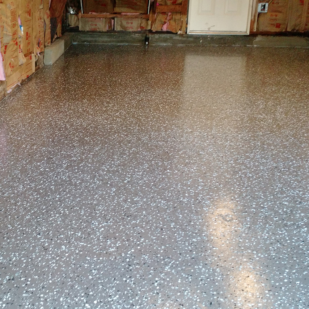 Garage: B-411 Flake Gray and CLear