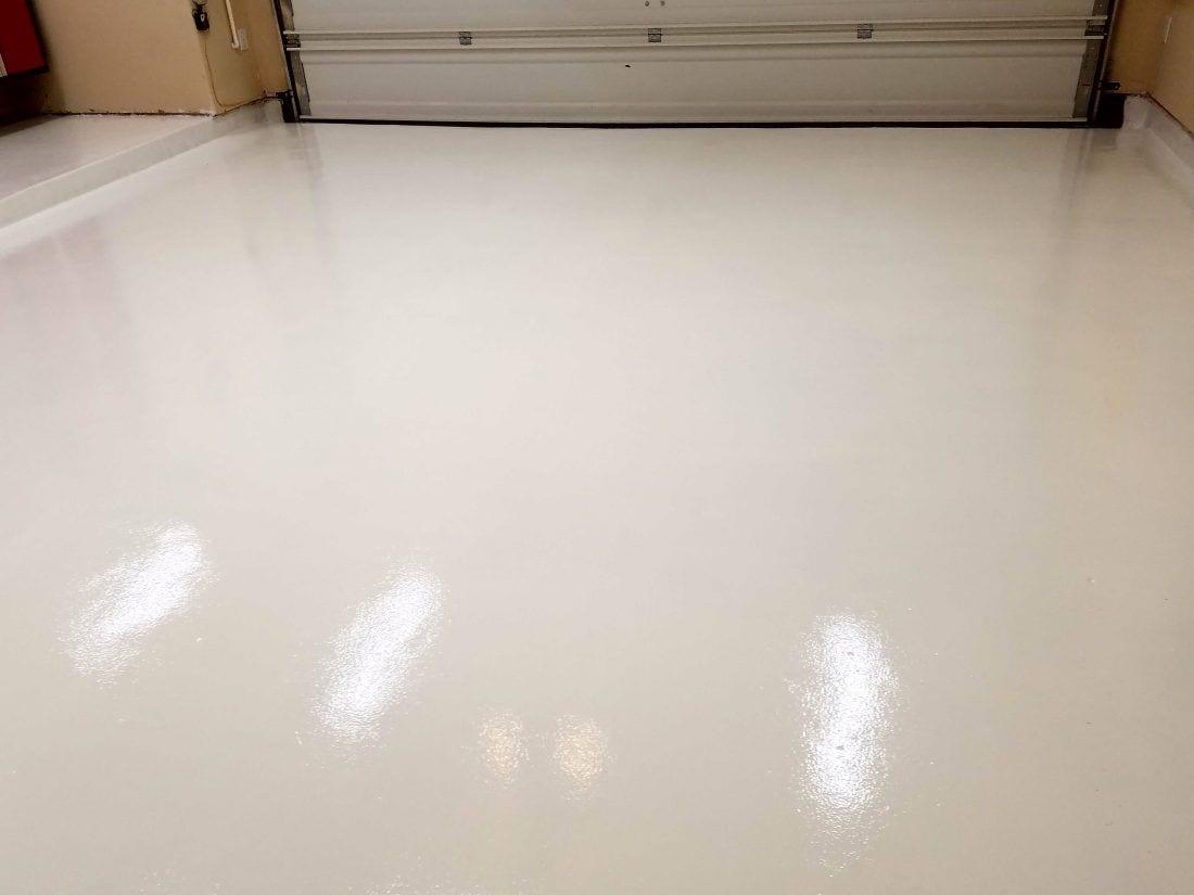 White Garage Floor Coating Polyurea Garageflooringllc Com