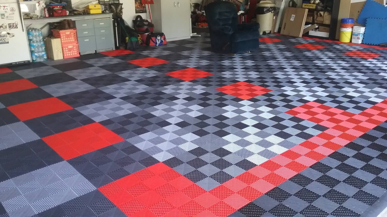 Bruces black red graphite and alloy ribbed garage floor garage bruces black red graphite and alloy ribbed garage floor dailygadgetfo Image collections