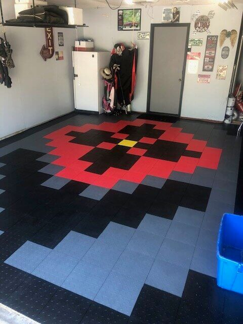 Flower Garage Tile Pattern