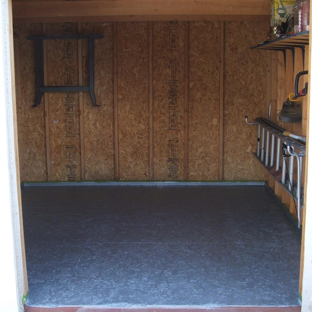 Shed Floor: 2 Coats Gray