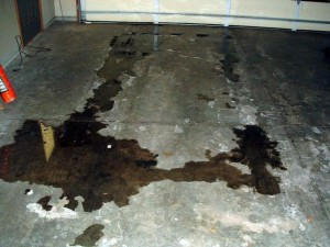 damaged garage floor