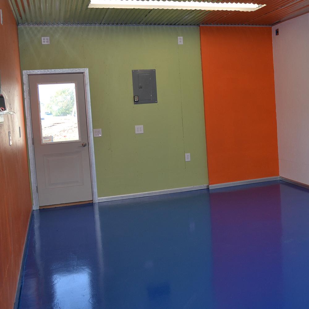 Garage: Blue over Gray