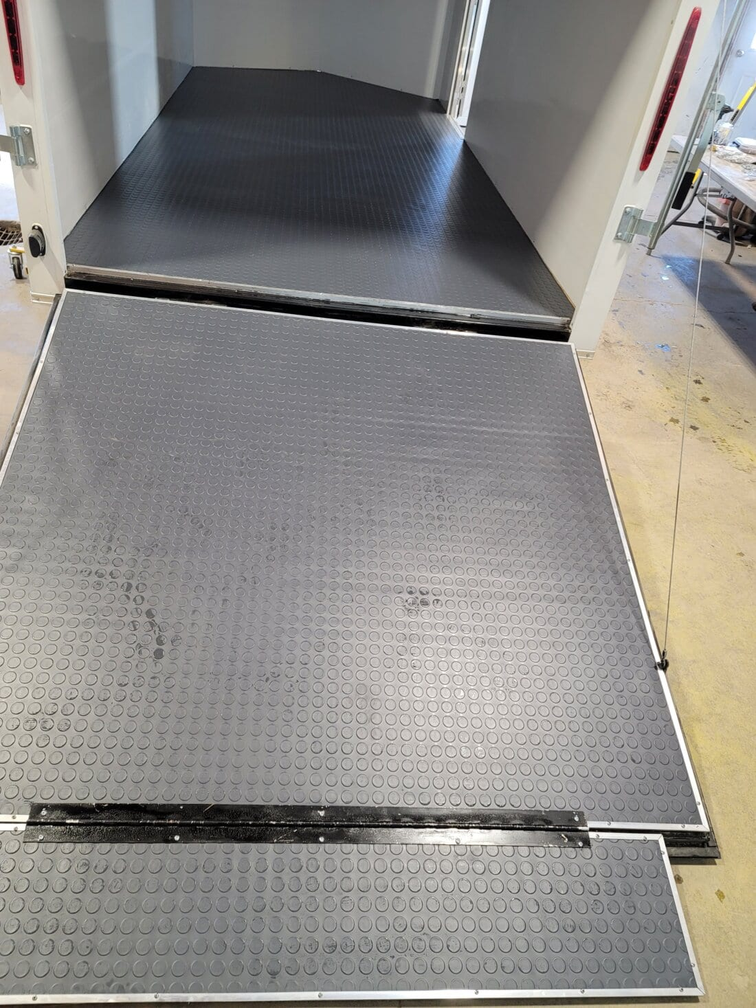 Large Coin Mat in Trailer