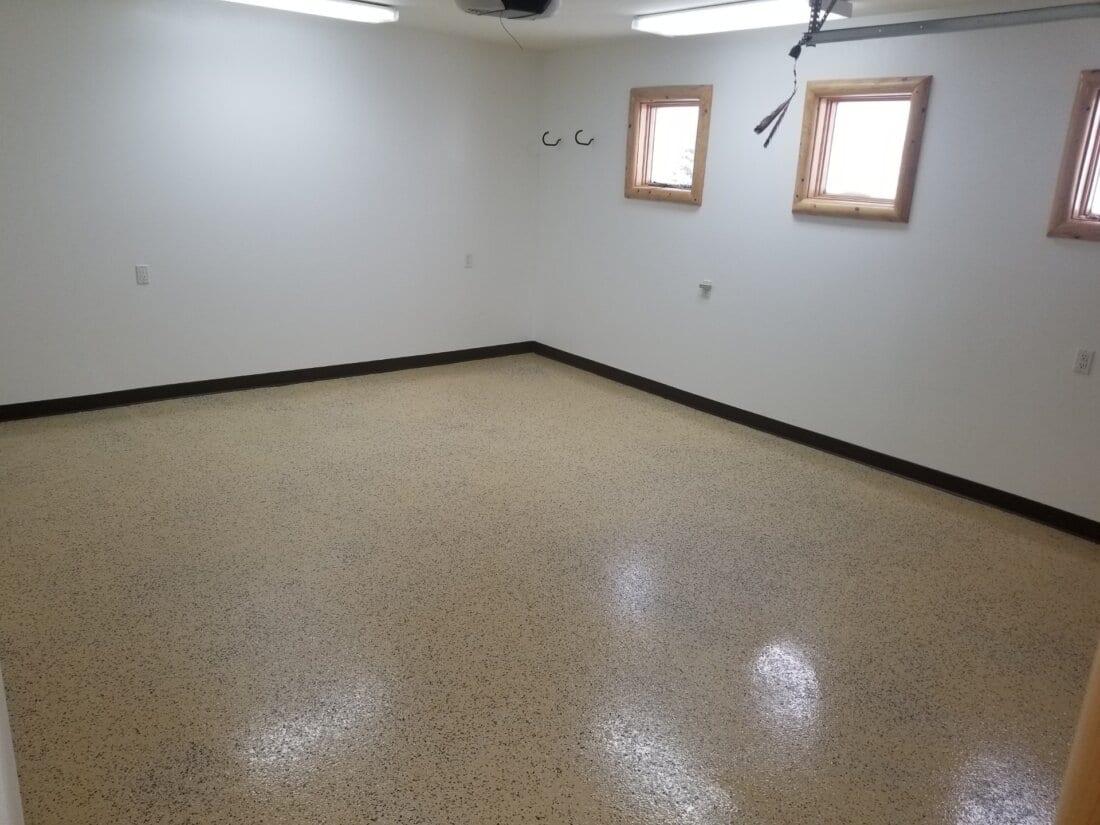 Tan Polyurea Floor