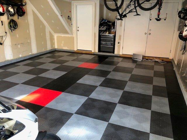 Grey and Alloy TrueLock HDXT Diamond Tiles