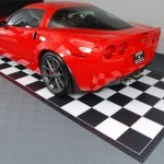 Checkered Garage Tile Mats