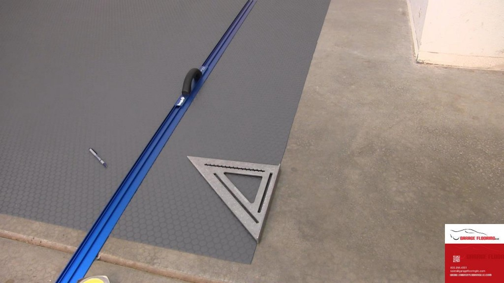 Installing Small Coin Garage Floor Mats