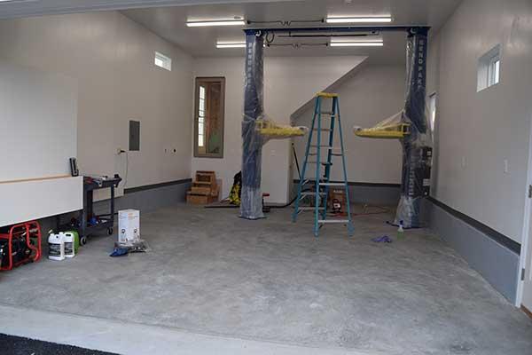 before garage floor coating