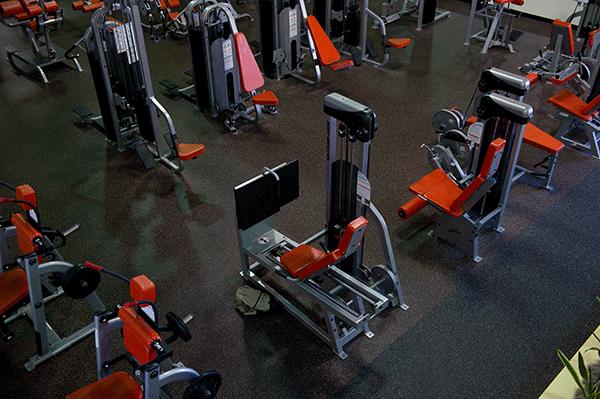 Rubber floor tiles flooring for gym