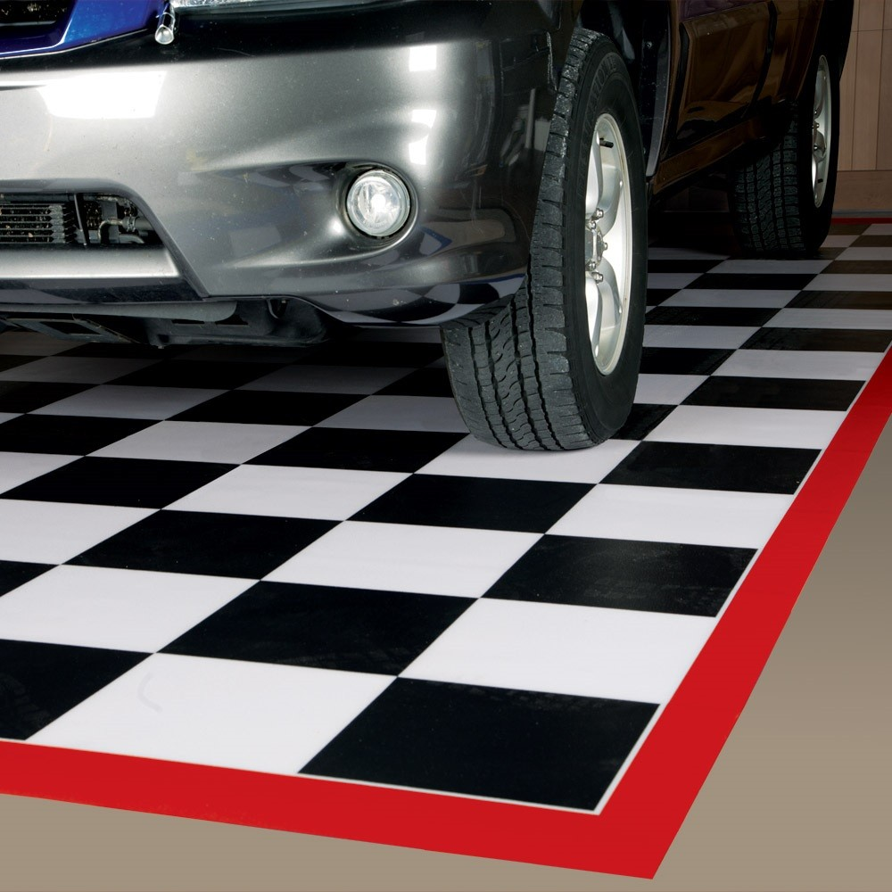 tile garage floor mats | checkerboard tile mats