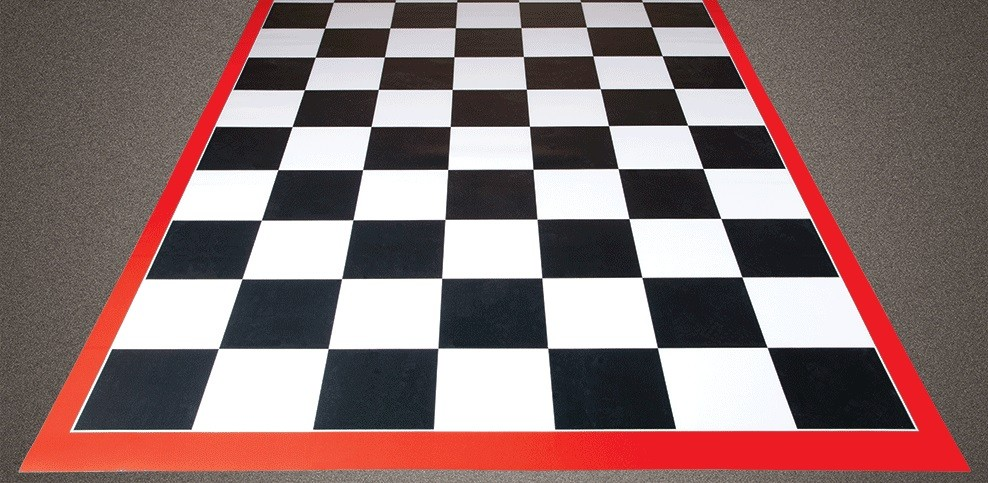 Tile Garage Floor Mats Checkerboard