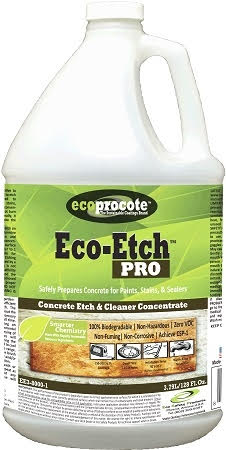 Eco-Etch is a fast, safer and easier way to etch a garage floor.