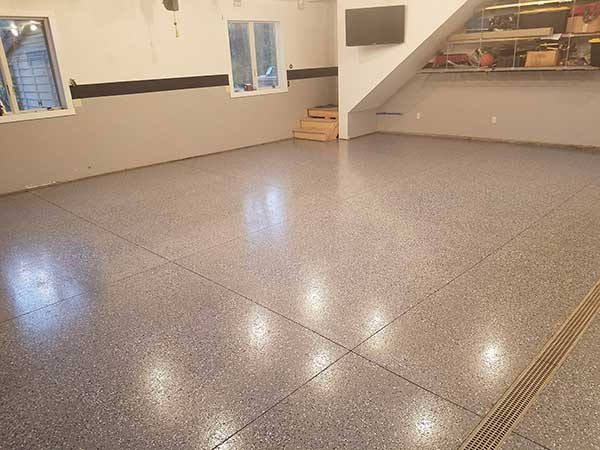 All Weather Floors Polyurea Garage Floor Coating Gray B310 Flake