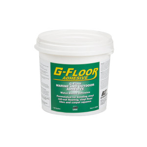 G-Floor Marine and Outdoor Adhesive. 1 Gallon Pail Adhesive– Covers approx. 100 to 300Sq. Ft.