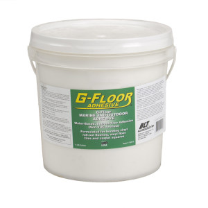 G-Floor Marine and Outdoor Adhesive. 4 Gallon Bucket Adhesive – Covers approx. 300 to 900 Sq. Ft.