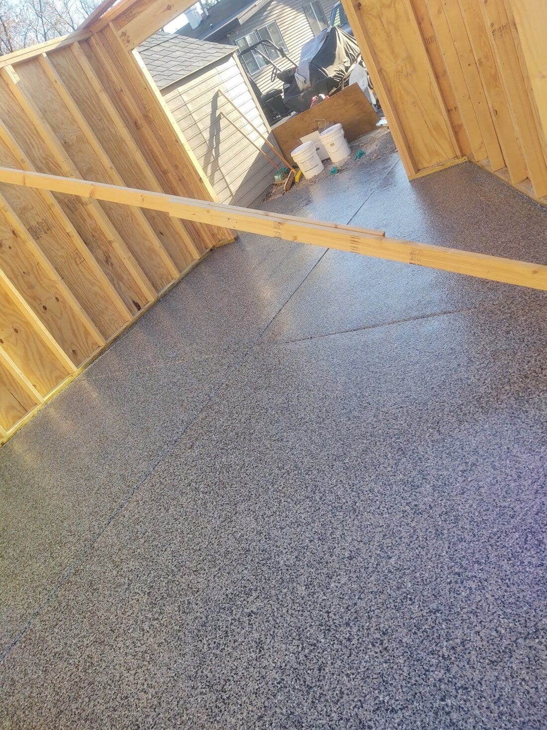 Grey Garage Floor Coating