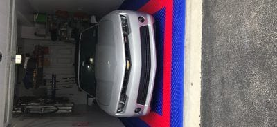 Red White (car) and Blue Garage