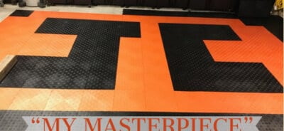 Black and Orange TrueLock HD Diamonds Tile
