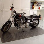 Diamond Deck Motorcycle Garage Mat