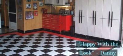 Red, white, black, TrueLock Tiles