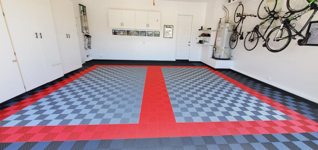 Red, Gray, Silver TrueLock HD Ribbed tiles