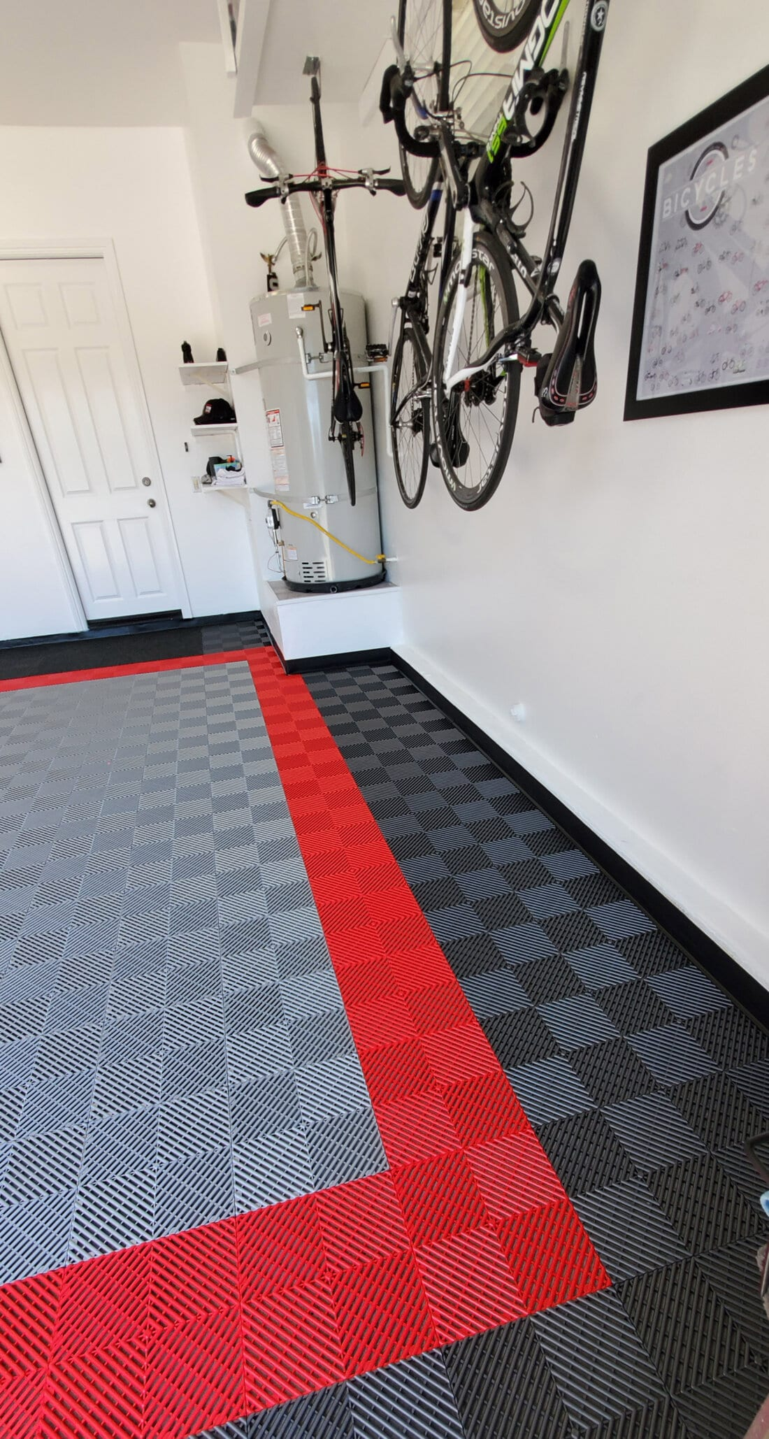 Black, Silver, Red TrueLock HD Ribbed Garage