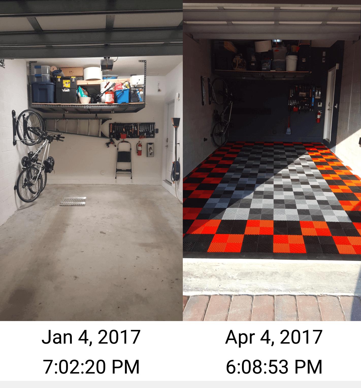 Garage Floor Tiles: Garage Floor Tile In Townhouse
