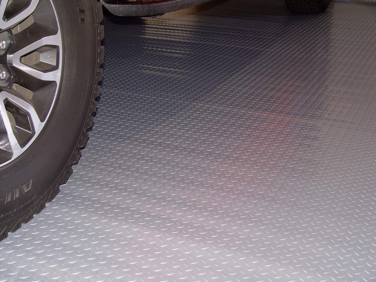 silver garage floor mat