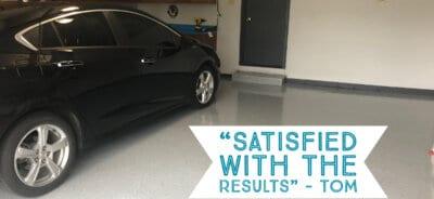 Tom's Epoxy Garage with Black Car