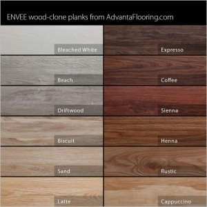 Envee Wood Planks Color Chart