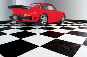 checkerboard garage floor