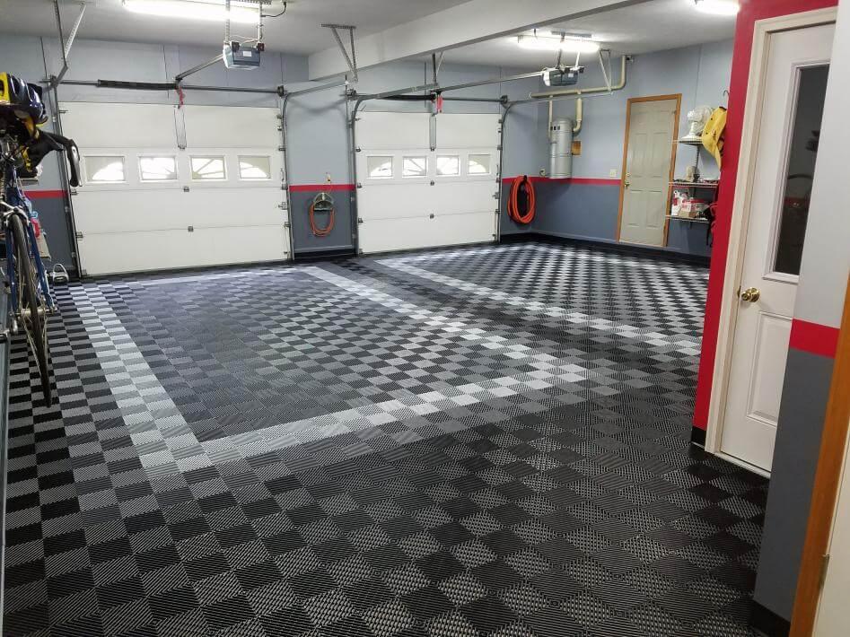 Before And After Truelock Hd Garage Floor Tiles