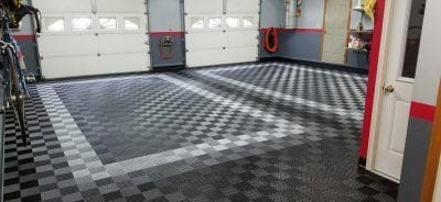 Beautiful TrueLock HD Ribbed Garage Floor Tile Project