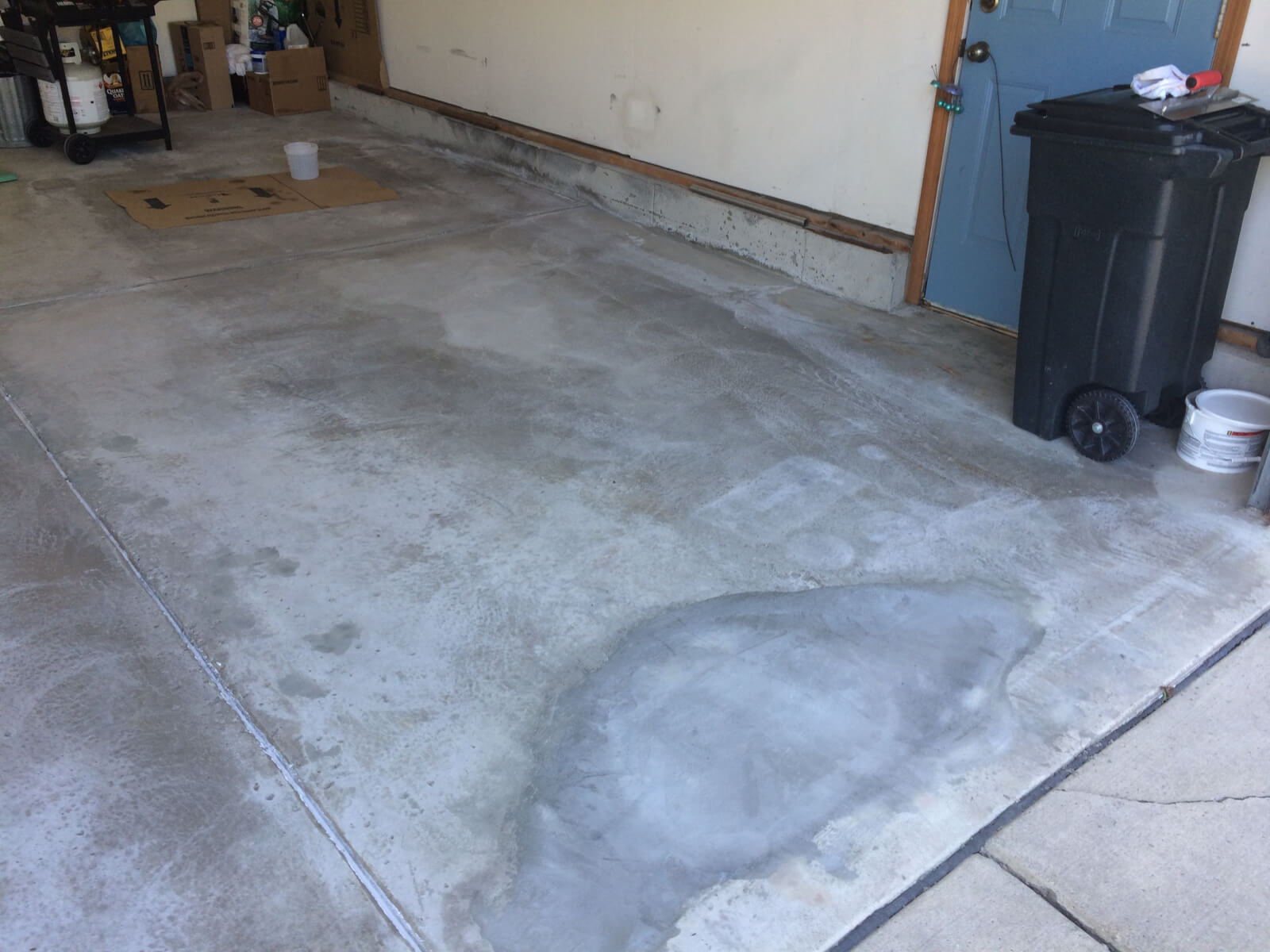 Concrete Garage Floor : Dave s high solids garage floor epoxy coating project