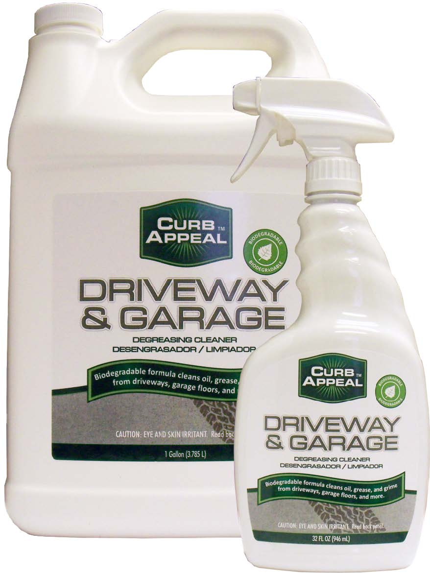 Concrete cleaner and degreaser for garages and driveways for Concrete cleaner degreaser