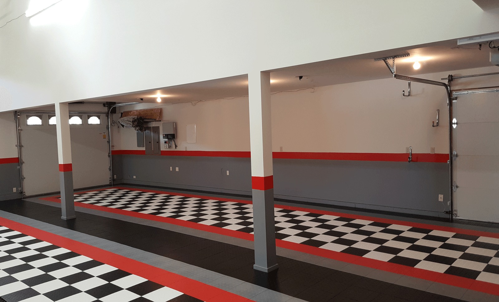 checkerboard garage floor | garage floor tiles | checkered mats