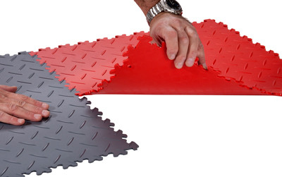 PVC Diamond Garage Tiles