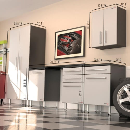 Ga 60kpc Ulti Mate Garage Pro 6 Piece Deluxe Cabinet Kit
