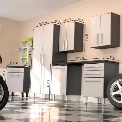 Ga 70kpc Ulti Mate Garage Pro 7 Piece Deluxe Cabinet Kit