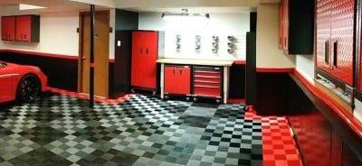 Garage Floor Tiles Wide Angle Shot TrueLock HD