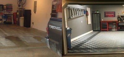 Before & After Garage Flooring