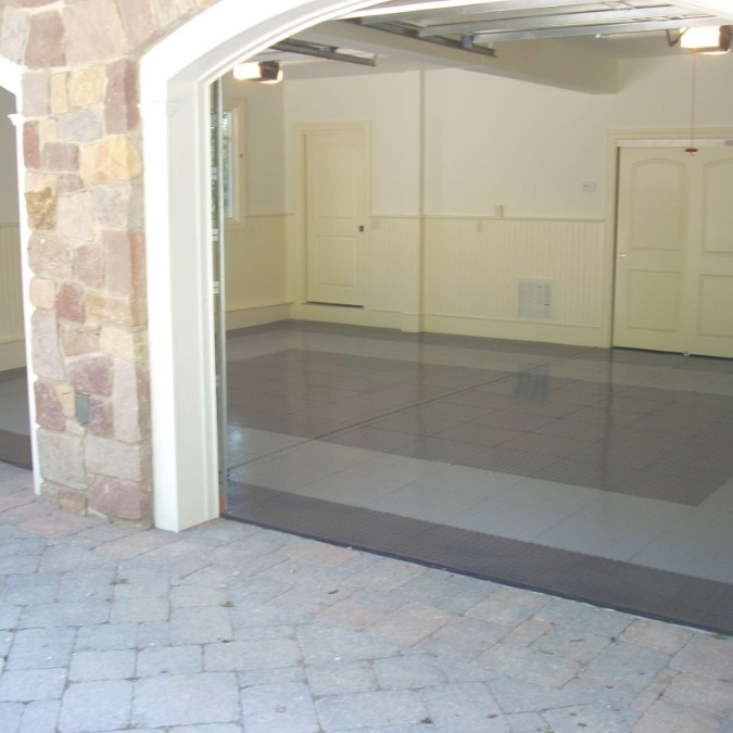 Pvc Garage Flooring : Truelock pvc garage floor tiles industrial strength
