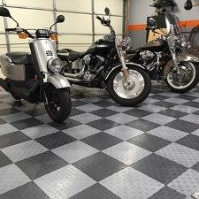 Garage Flooring Tiles Mats Rolls Coatings GarageFlooringLLC - Polyvinyl garage floor covering
