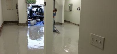 Marcel Installing DIY High Solids Garage Floor Epoxy