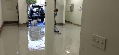 Marcel Installing DIY High Solids Garage Floor Epoxy